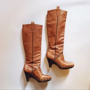 Cole Haan Cognac Brown Leather Tall Boots